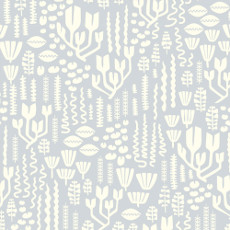 Underwater Scandiweeds Dusty Rose - Cloud 9 Quilters Weight Fabric 44in/45in Per Metre