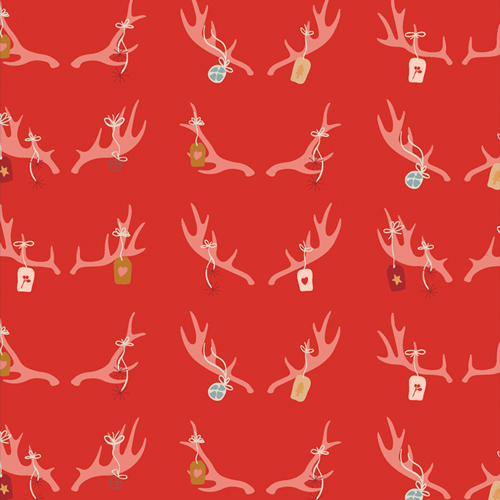 Cheerful Antlers from Cozy and Magical by Maureen Cracknell in Cotton for AGF