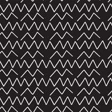 Lines & Shapes Angles Black - Cloud 9 Canvas Fabric 44in/45in Per Metre