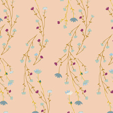 Garden Dreamer Climbing Posies Blush - Art Gallery Fabric 44in/45in Per Metre