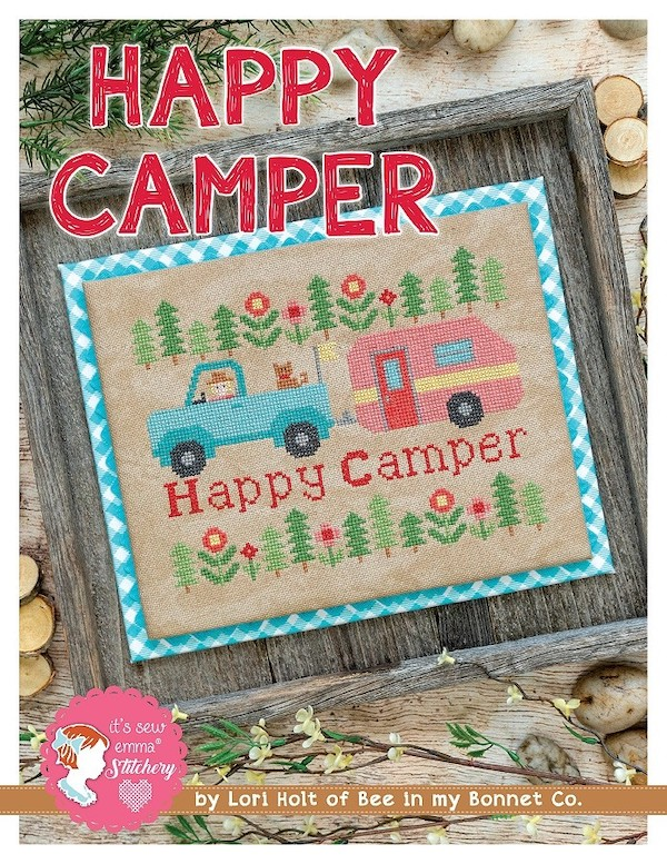 Happy Camper Cross Stitch Pattern - Lori Holt