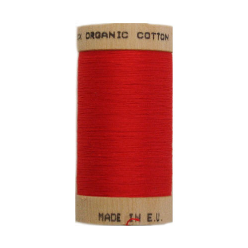 Scanfil Organic Thread 100 Metre Spool - Red