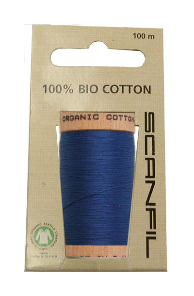 Scanfil Organic Thread 100 Metre Hang-sell - Royal Blue