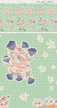Wonderful Things Words To Live By Bounty - Art Gallery Fabric 44in/45in Per Metre