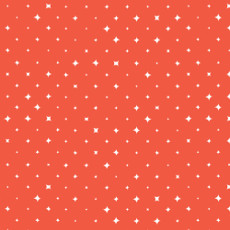 We Are All Stars Bloom Orange - Cloud 9 Quilters Weight Fabric 44in/45in Per Metre