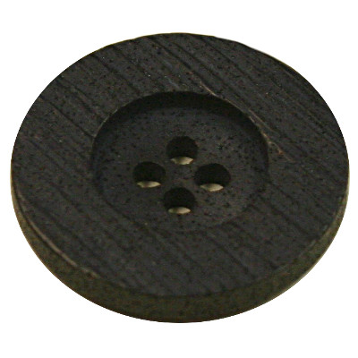 Acrylic Button 4 Hole Textured 18mm Black