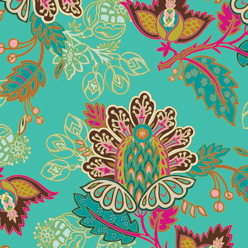 Exotic Flora in Cotton from Marrakesh Fusion designed by Pat Bravo for AGF