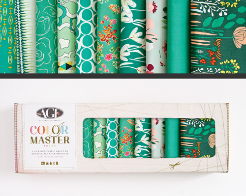 AGF Colormaster Fat Quarter Collectors Set - Emerald Stone Edition