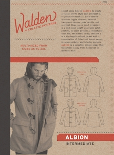 Albion Duffle Coat Pattern - Walden By Colette Patterns