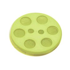 Acrylic Button 2 Hole Indented Circle 23mm Lime
