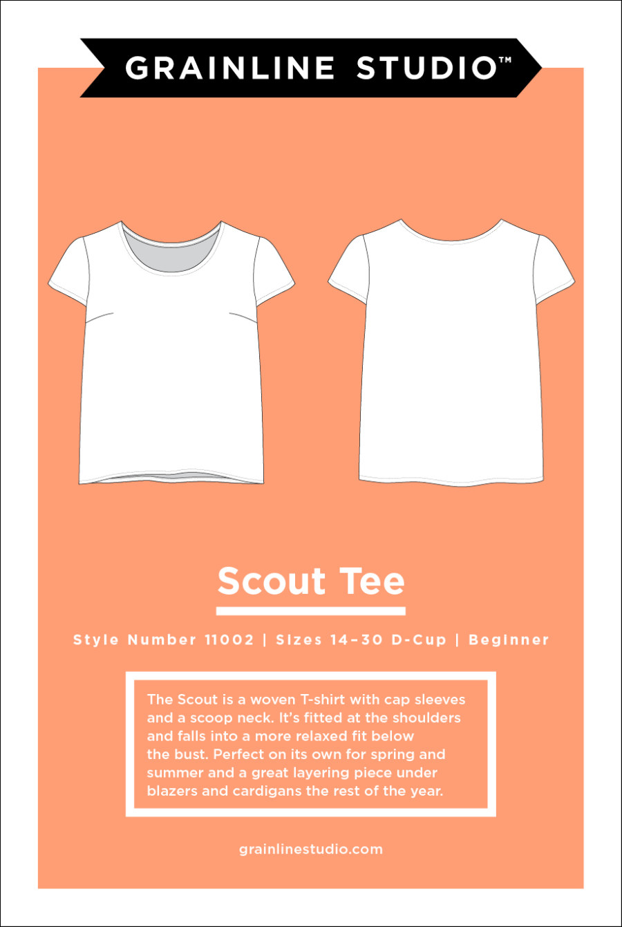 Scout Tee Pattern Size 14-30 By Grainline Studio