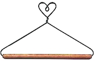 6in Heart Top With Dowel Wire Hanger
