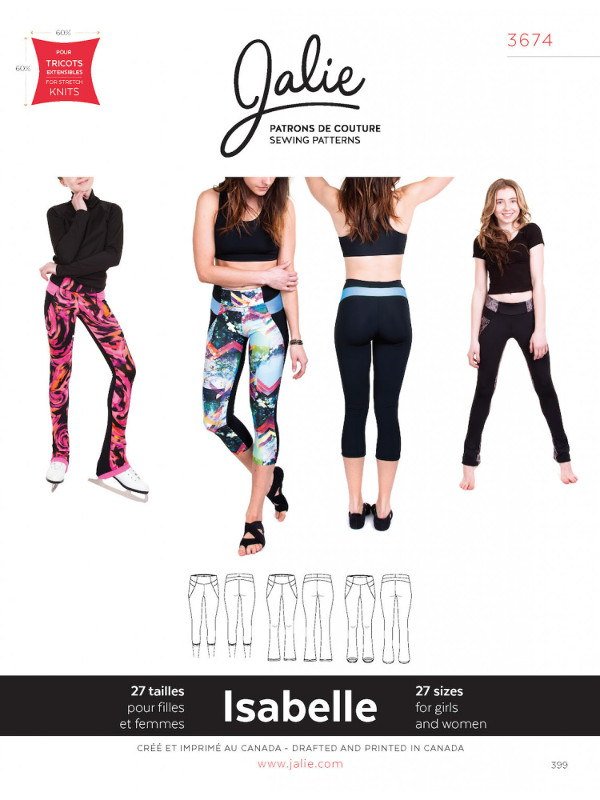 Isabelle Leggings And Skating Pants Pattern - Jalie Patterns