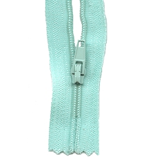 Make A Zipper Standard - 197in Long With 12 Zipper Pulls - Aqua Blue