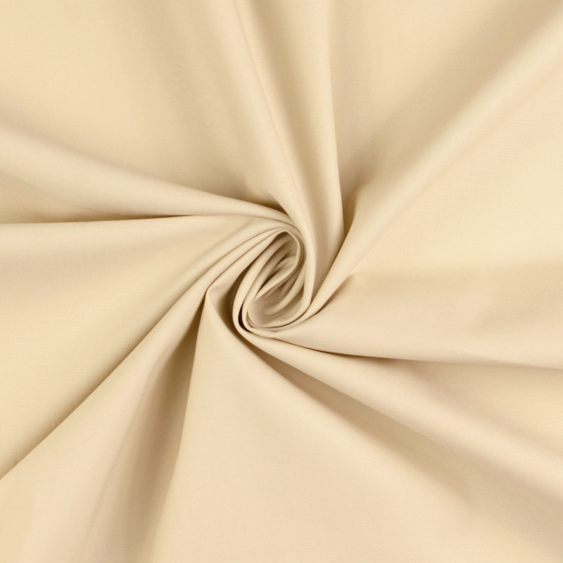 Attica Ecru Cotton Stretch Twill Fabric