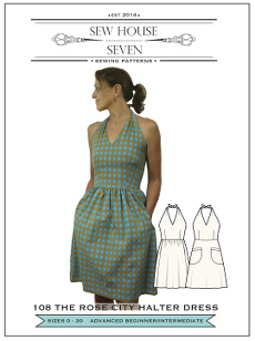 Rose City Halter Dress Pattern - Sew House Seven Pattern