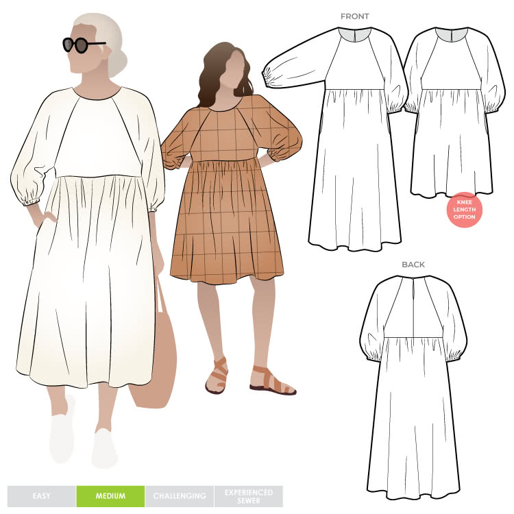 Hope Woven Dress Pattern Size 4-16 By Style Arc
