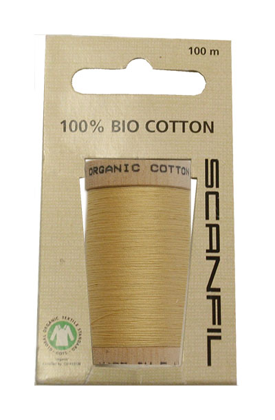 Scanfil Organic Thread 100 Metre Hang-sell - Mustard