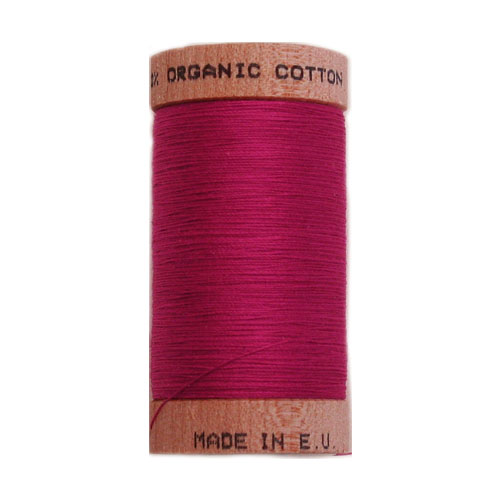 Scanfil Organic Thread 100 Metre Spool - Fuscia