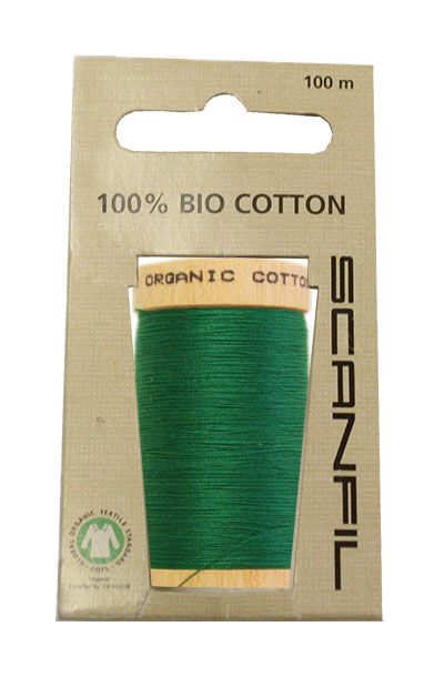 Scanfil Organic Thread 100 Metre Hang-sell - Kelly Green