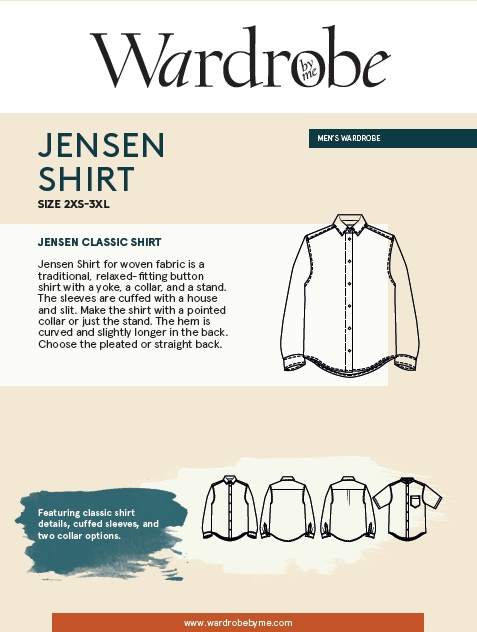 Jensen Shirt Pattern by Wardrobe By Me