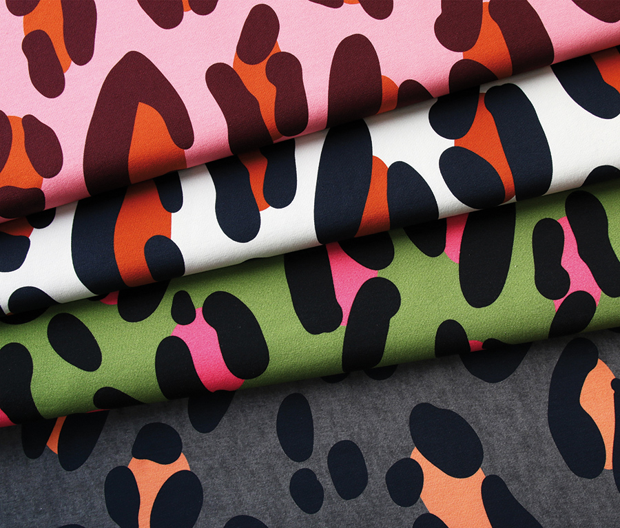 Safari XXL Cream/Black Loopback Sweatshirt Fabric from Wanderlust by Hamburger Liebe for Albstoffe