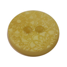 Acrylic Button 2 Hole Engraved 28mm Yellow