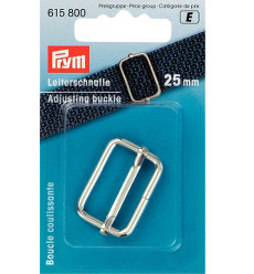 Prym Adjusting Buckle 25mm Silver Coloured - 1 Piece