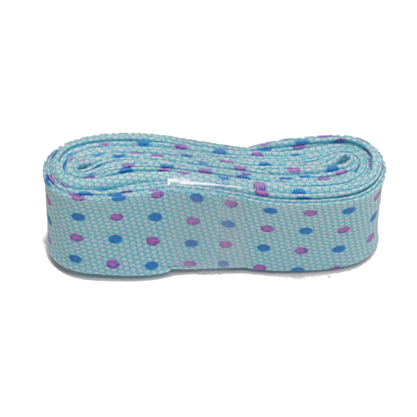 Blue Multi Spot Bias Binding Single Fold Printed - 20mm X 3m
