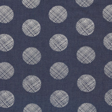 Pointelle Rings Denim Print - Art Gallery Fabric 58in/59in Per Metre, 100% Cotton, 4.5 Oz/sqm