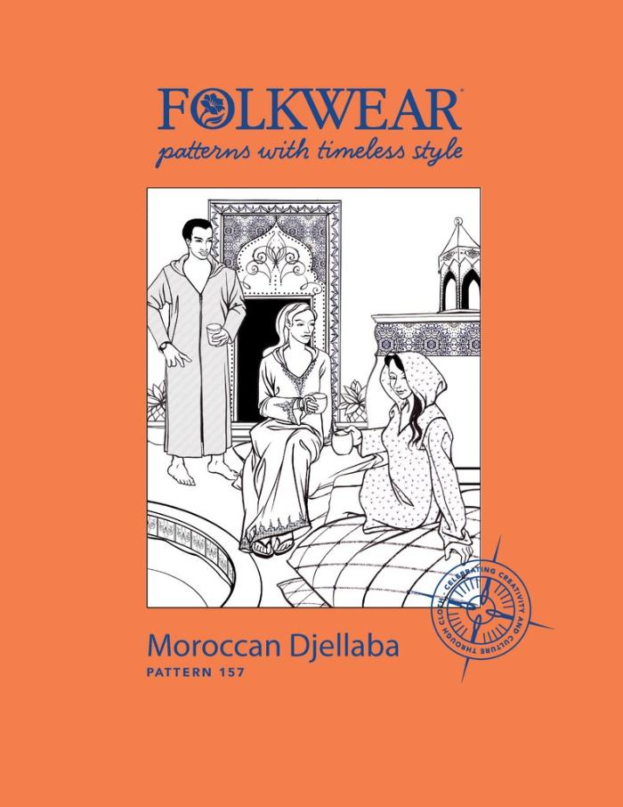 Moroccan Djellaba Hooded Caftan by Folkwear Patterns