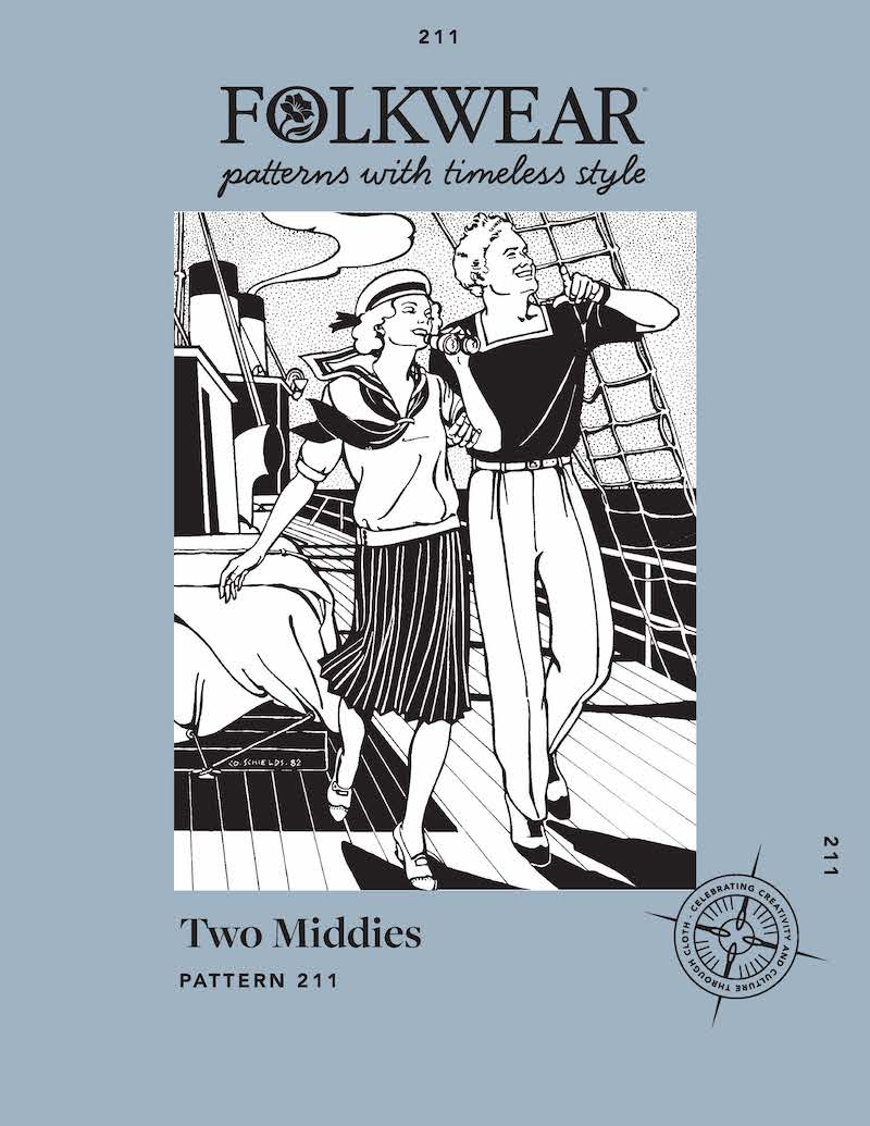Two Middies Top Pattern by Folkwear