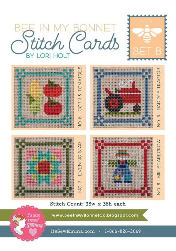 Stitch Cards Set B Cross Stitch Pattern By Lori Holt