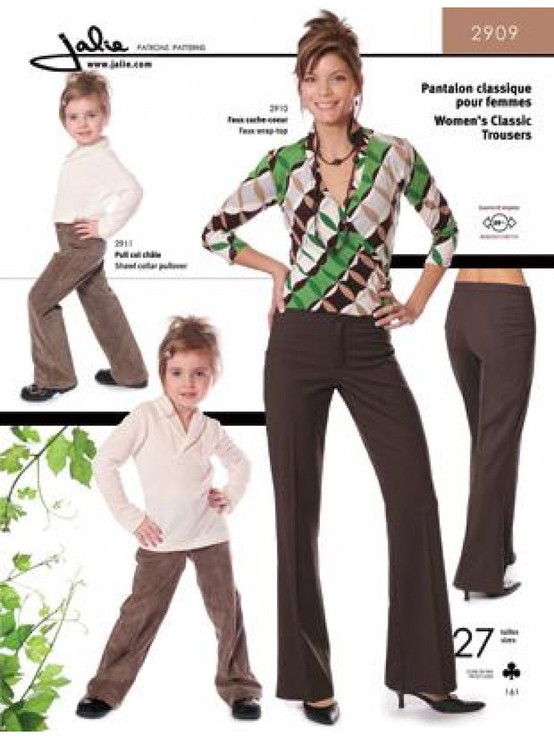 Classic Ladies Trousers Pattern by Jalie