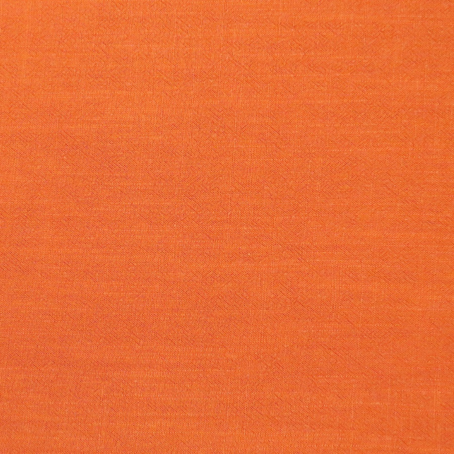 Burnt Orange Viscose Linen Slub Fabric
