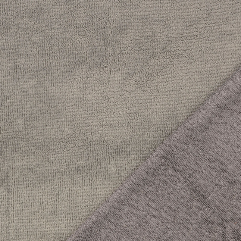Grey Bamboo Blend Towelling Fabric