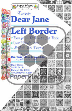 Dear Jane Quilt Paper Piece Pack Row Left Border - Paper Piecing