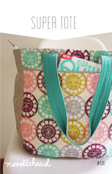 Super Tote Pattern - Noodlehead
