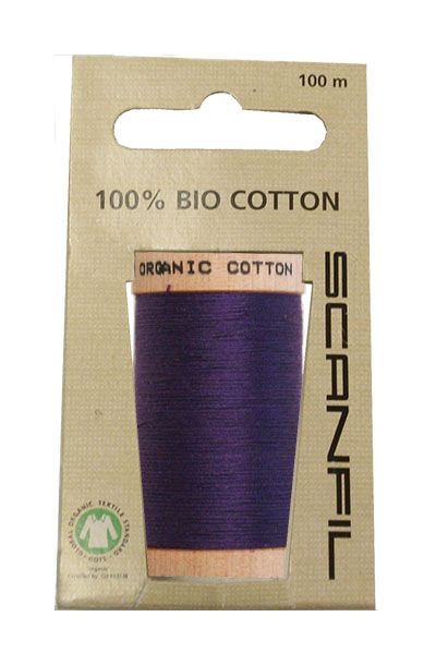 Scanfil Organic Thread 100 Metre Hang-sell - Purple