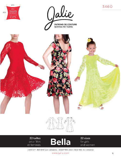 Bella Fit And Flare Dress Pattern - Jalie Patterns