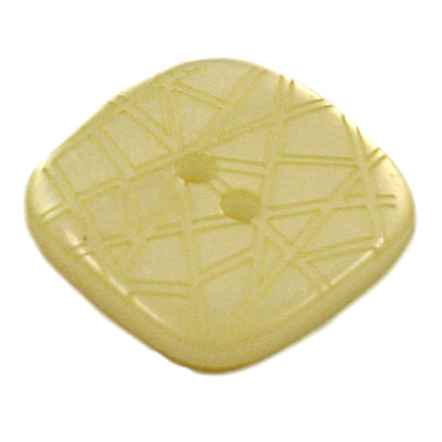 Acrylic Button 2 Hole Square Gloss Embossed 14mm Lime