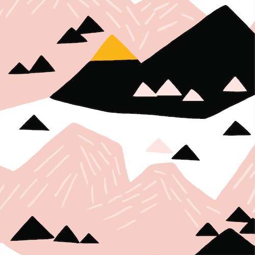 Pink Mountain From Wildlife By Ophelia Pang