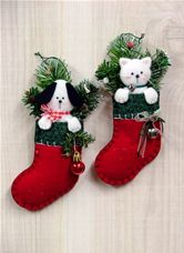 Puppy & Kitten Ornaments - Countryside Crafts Felt Pattern