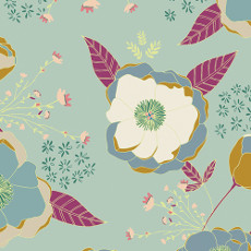 Garden Dreamer Sprinkled Peonies Serene - Art Gallery Fabric 44in/45in Per Metre
