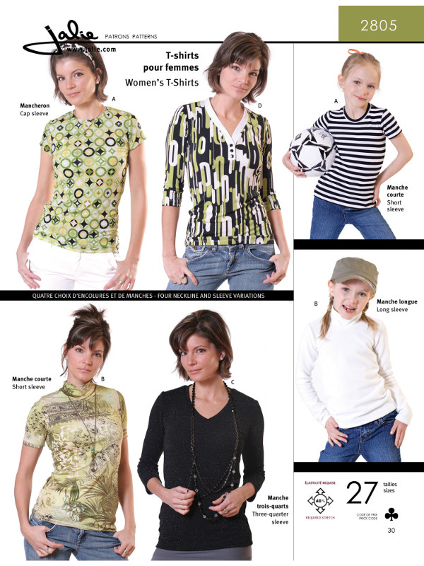 Womens T Shirts Pattern - Jalie Patterns