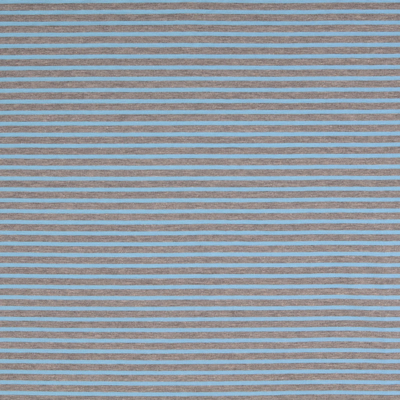 Nantes Blue and Grey Striped Knit Fabric