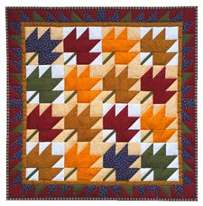 Miniature Quilt Kit - Leaves 22in X 22in
