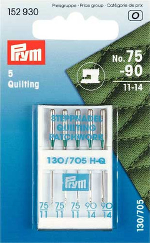 Prym Sewing Machine Needles Sys. 130/705 Quilting 75/90 5pcs