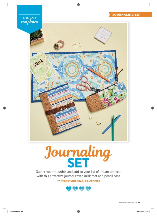 Quilt Now Issue 73 - Journaling Set