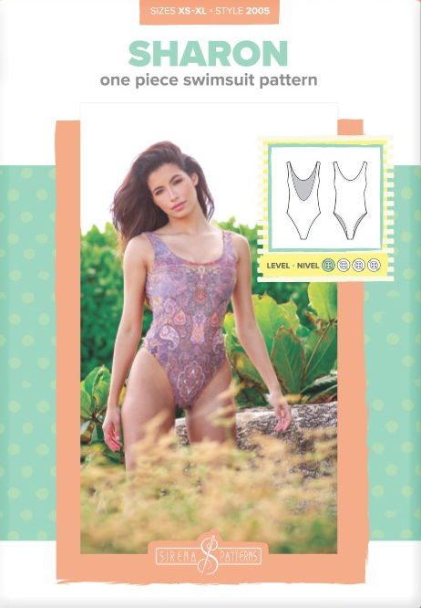 Sharon One Piece Swimsuit Pattern by Sirena Patterns